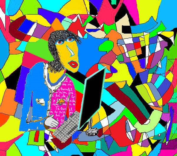 Izobraženec se izgublja v abstraktnih svetovih
